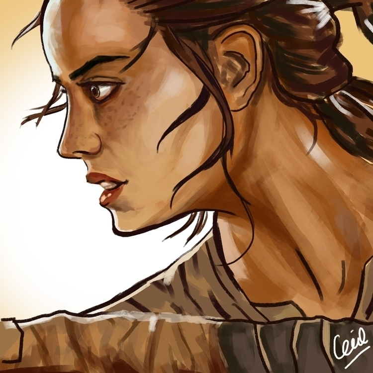 Quick painting Rey - illustration - cecilliatedja | ello