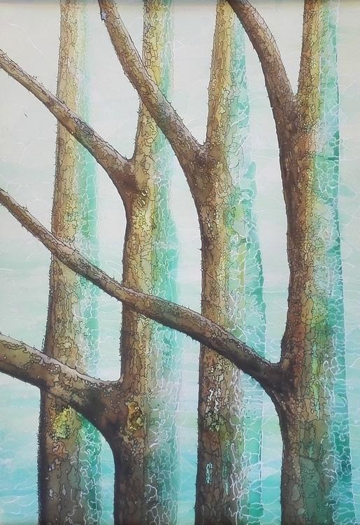 illustration, painting, trees - patrickvandeput | ello