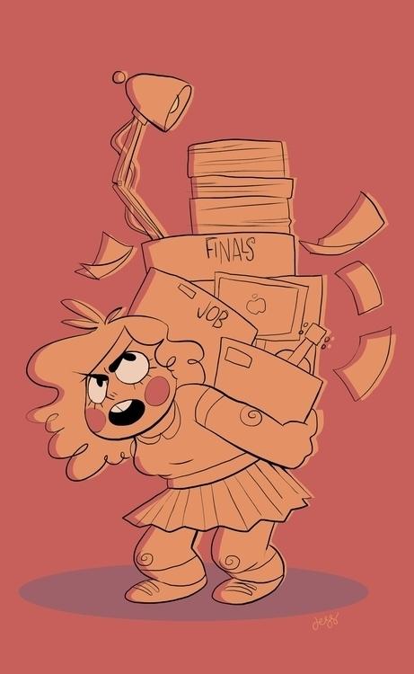 finals - characterdesign, funny - jessdrawz | ello