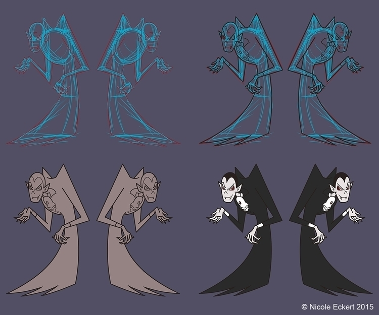 Drac design sheet. Dracula-esqu - eckertainment | ello