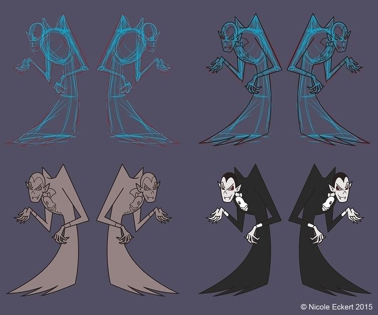 Drac design sheet. Dracula-esqu - eckertainment | ello
