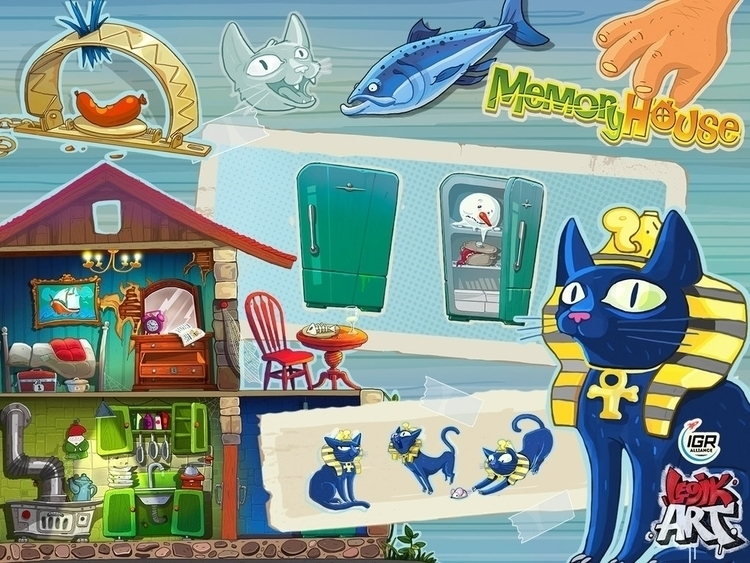 Memory House3 - gameart, conceptart - legik | ello