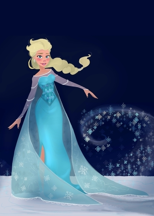 love Elsa, wanted paint - characterdesign - cleleroy | ello