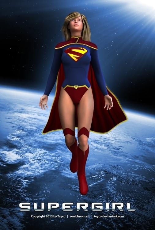 Supergirl - supergirl, cgi, 3d, modo - mason-1288 | ello