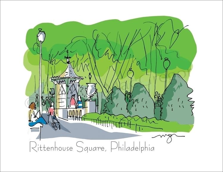 Rittenhouse Square, Philadelphi - macgregorart | ello