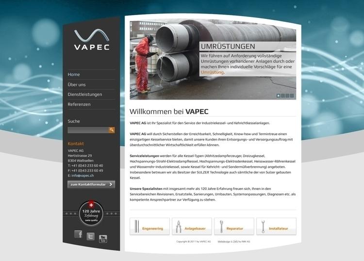 Vapec - website, webdesign, webdesign - mason-1288 | ello