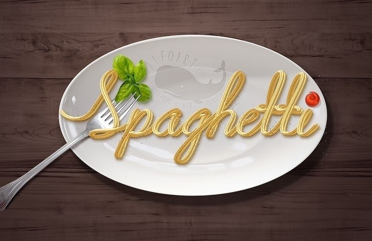 Spaghetti Text Effect - Learn c - alfoart | ello