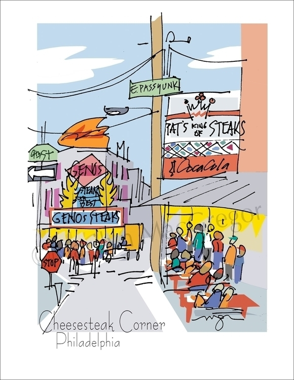 Cheesesteak Corner, Philadelphi - macgregorart | ello