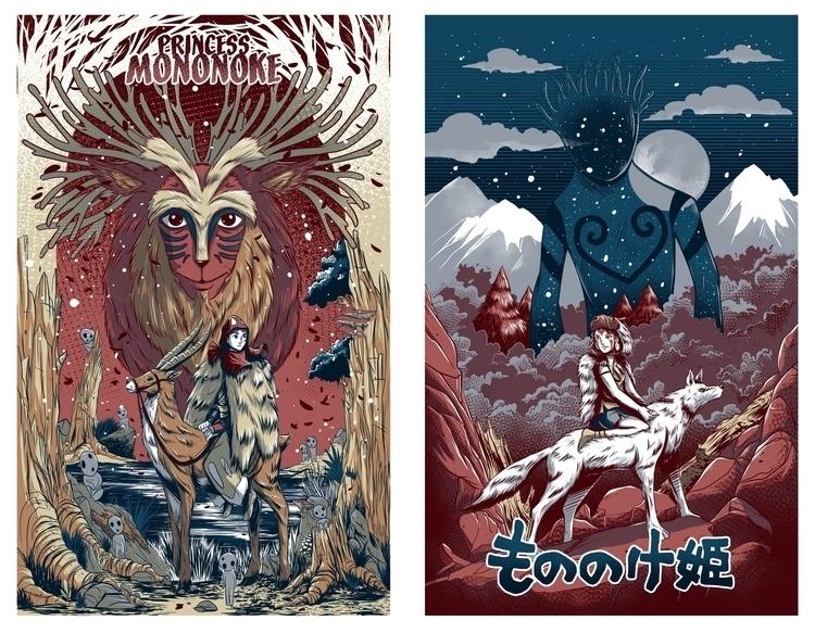 Princess Mononoke Poster Design - strangepaper | ello