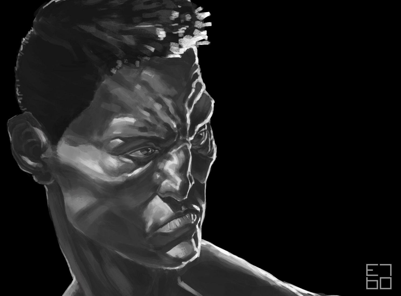 face study - illustration, painting - grositskiy | ello