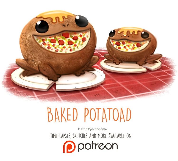 Day 1420. Baked Potatoad - piperthibodeau | ello