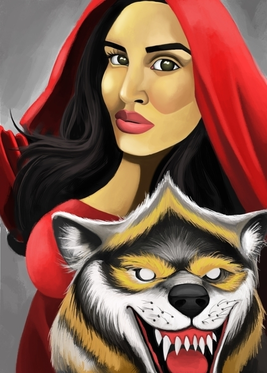 Sister Red Riding Hood - painting - andyanime90 | ello