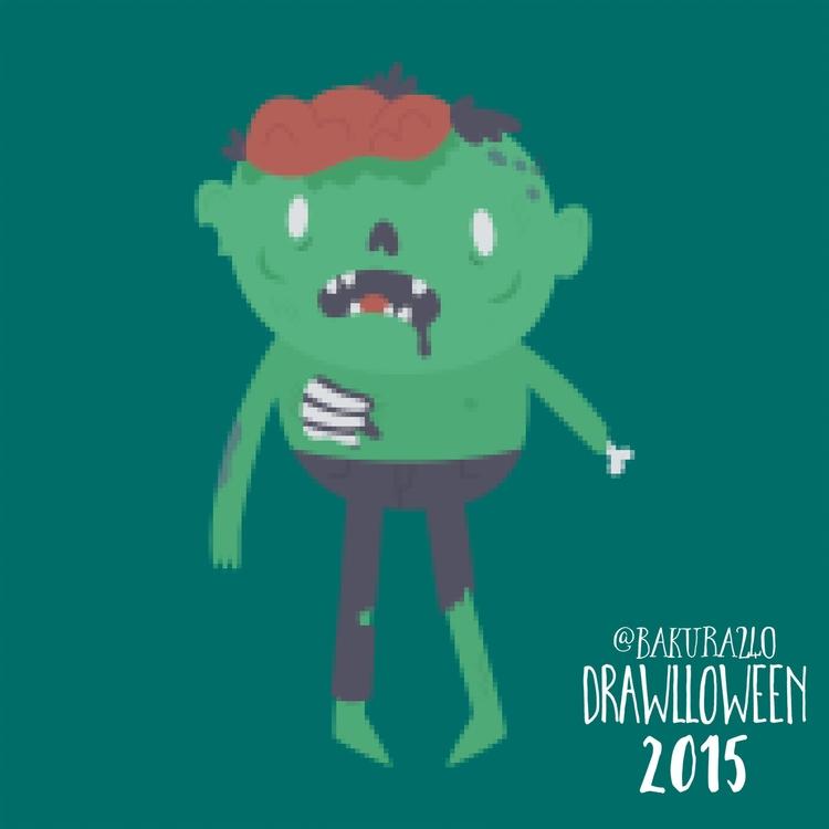 21 - 8-bit Zombie - drawlloween - clairestamper | ello