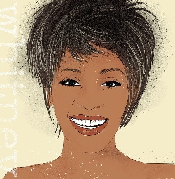 Whitney Houston - portrait, illustration - liora-1444 | ello