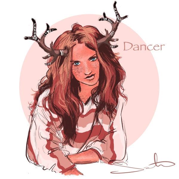 reindeer, christmas - samanthadoodles   ello