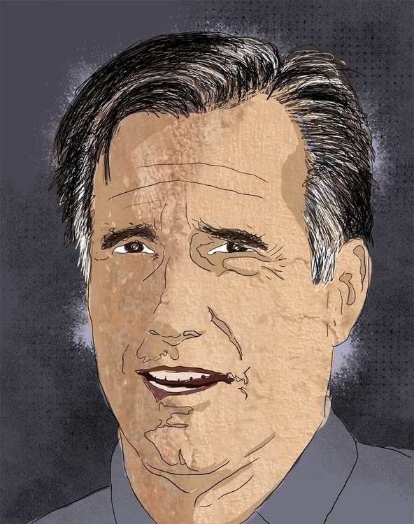 Romney - portrait, editorialillustration - liora-1444 | ello