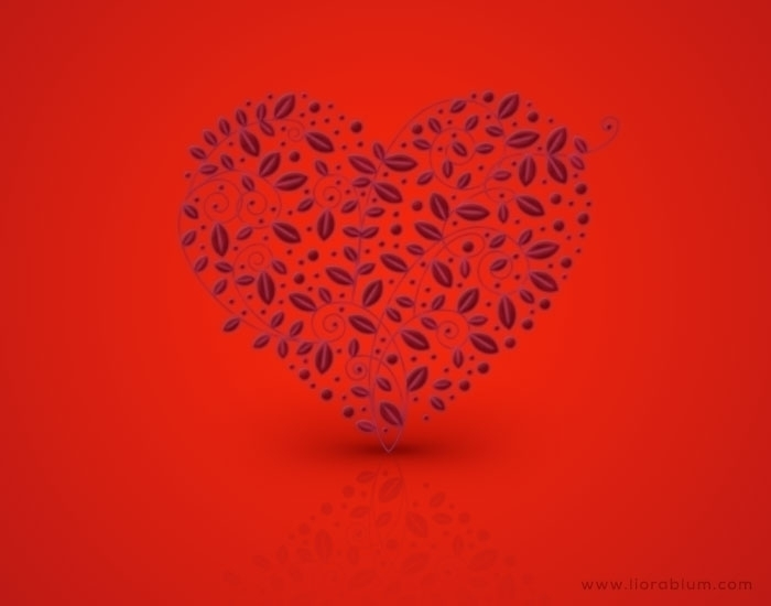 Heart Leaves - illustration, Photoshopimage - liora-1444   ello