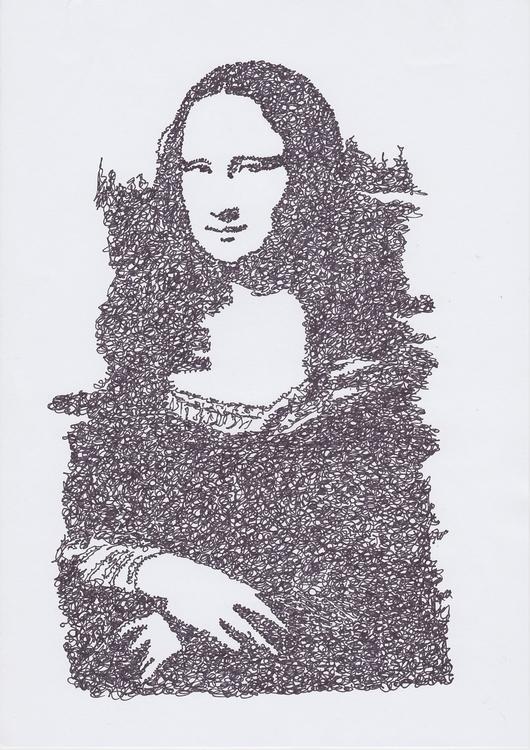 doodle, illustration, monalisa - santicp   ello