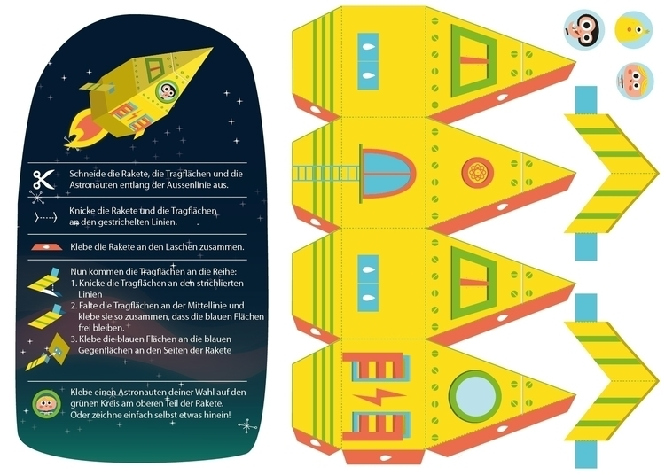 Build papercraft rocket! Illust - sweatshopillustrations | ello