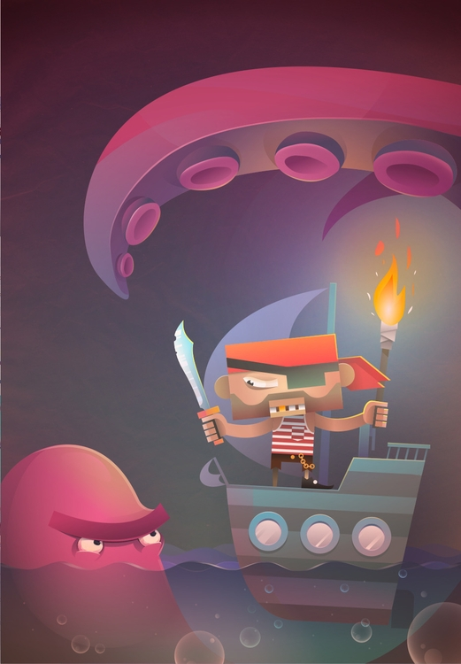 Pirate job tough - vector, illustration - flyboj | ello