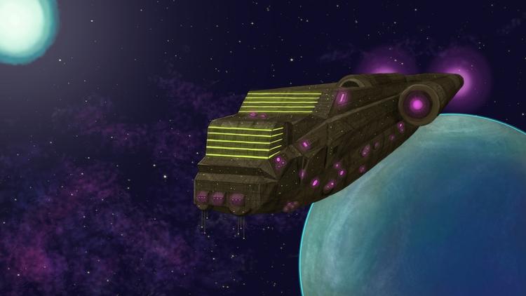 Interplanetary Vessel - illustration - planckpixels   ello