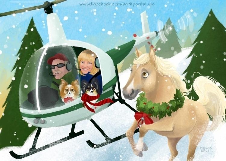 Fournier Family Christmas - papillon - barkpointstudio | ello