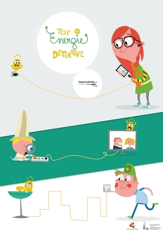 Poster design Energy Detectives - sweatshopillustrations | ello