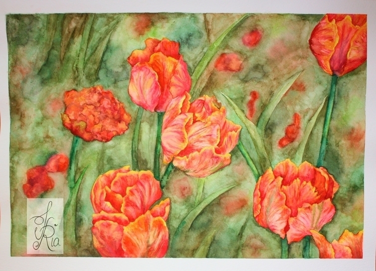 Tulips - tulips, nature, flowers - fariafiroz26 | ello