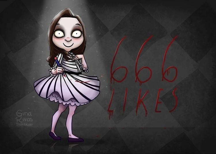 666 Likes - timburton, character - ginarivas | ello