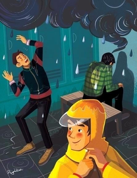 stress - 2, editorialillustration - ping-7637 | ello