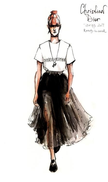 Cristian Dior spring'17 - illustration - annagosteva | ello