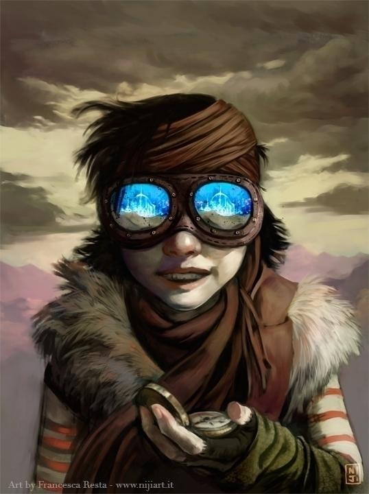 Ziggy, Aviator - illustration, painting - niji-4647 | ello