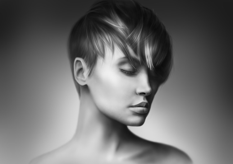 illustration, portrait, woman - dmytrivmax | ello