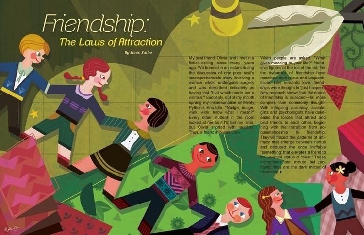 Friendship - editorialillustration - ping-7637   ello