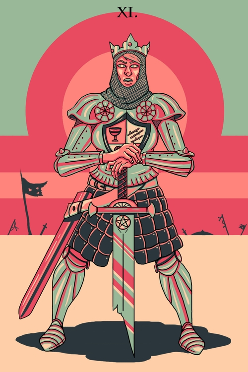 Justice (XI - illustration, tarot - wingywonky-5811 | ello
