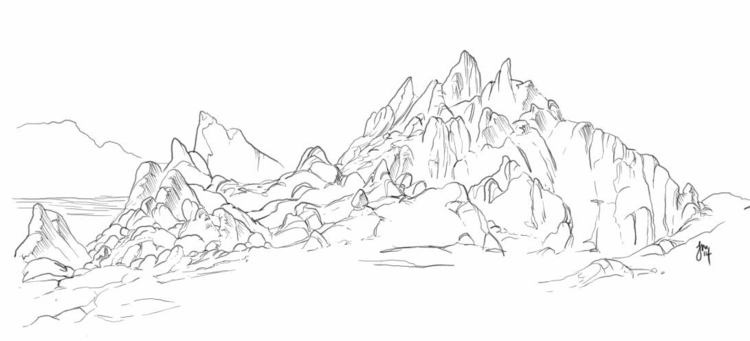 Cabo Rocks! Drawing rocks vacat - jasonmartin-1263 | ello