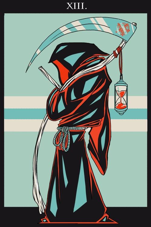 Death (XIII - illustration, tarot - wingywonky-5811 | ello