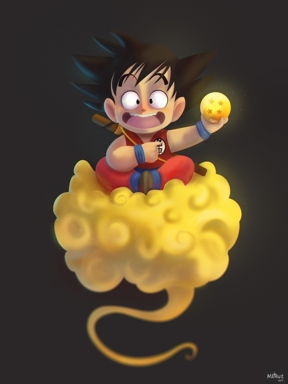Oi sou Goku - illustration, painting - mateuzfernandes | ello