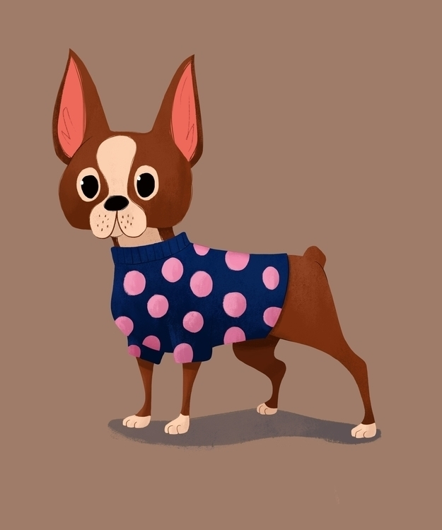 Adorable puppy work - bostonterrier - ashleyodell | ello