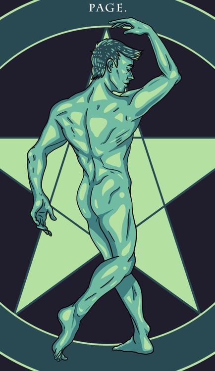 Page Pentacles - illustration, tarot - wingywonky-5811 | ello