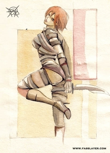 watercolor illustration - woman - fasslayer | ello