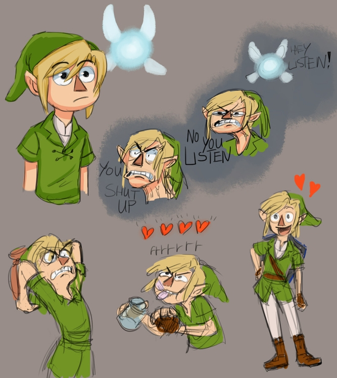 Link, fairy eater hero time - illustration - alexjohnston | ello