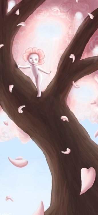 Blossom - cute, blossom, digitalpainting - schlissel | ello