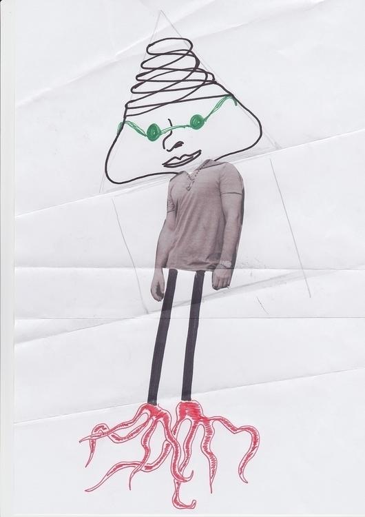 collage, fun, illustration, character - santicp | ello