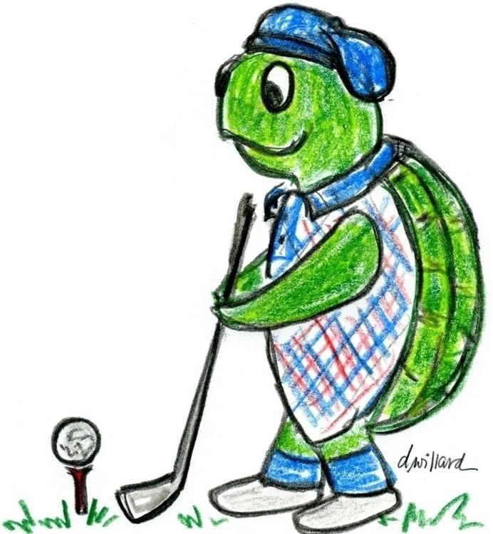 series sports-themed turtle ill - deborahwillard | ello