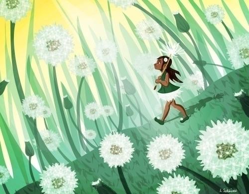 Dandelions - children'sillustration - schlissel | ello