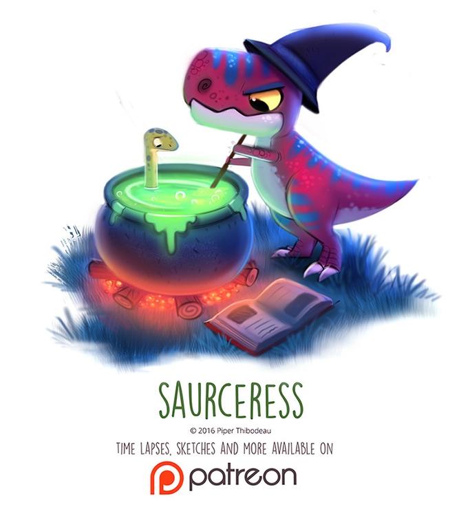 Day 1427. Saurceress - piperthibodeau | ello