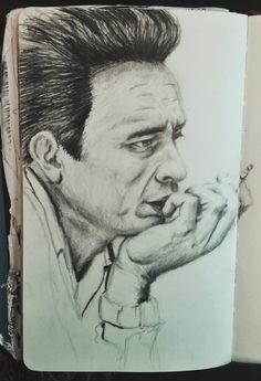 Man Black - illustration, portrait - sarapetrolis | ello