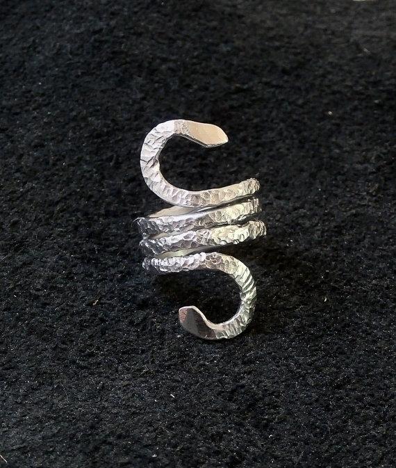 snake ring - jewelry, aluminumjewelry - wolfgangschweizer | ello