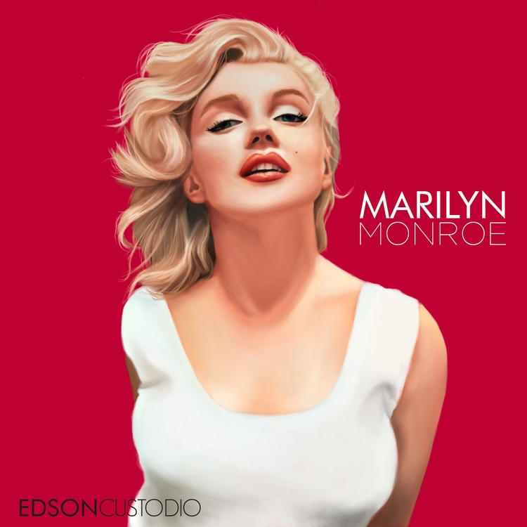 Marilyn Monroe - digitalpainting - edsoncustodio | ello